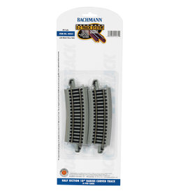 "Bachmann 44531 - Half-Section 18"" Radius Curved HO Scale EZ Track"