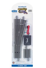 Bachmann 44558 - #4 Turnout - Right - HO Scale EZ Track