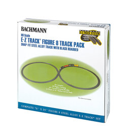 Bachmann 44487 - Steel Alloy Figure 8 Track Pack HO Scale EZ Track