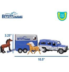 Breyer Land Rover & Tag-a-Long Trailer