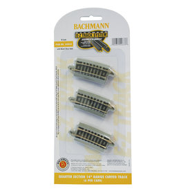 "Bachmann 44833 - Quarter Section 14"" Radius Curved Track - N Scale EZ Track"
