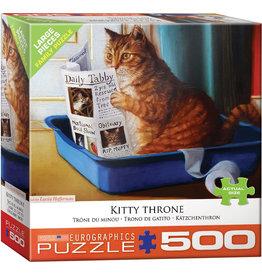 Eurographics Kitty Throne - 500 Piece Puzzle