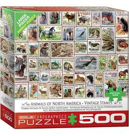 Eurographics North American Wildlife Vintage Stamps - 500 Piece Puzzle