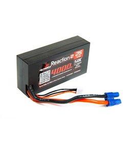 Dynamite DYNB402596H3 - 7.4V 4000mAh 2S 50C Reaction 2.0 Hardcase LiPo Battery: EC3