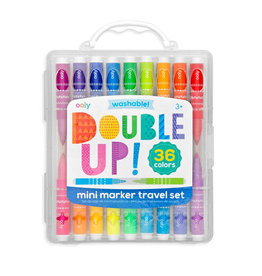 Ooly Double Up 2-in-1 Mini Marker Travel Set