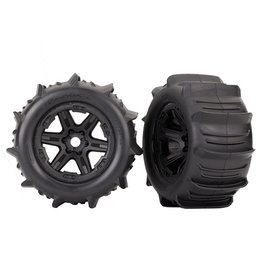 "Traxxas 8674 - Paddle Tire / Black 3.8"" Wheel"