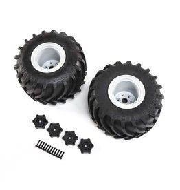 Losi LOS43034 - Mounted Monster Truck Tires, Left/Right: LMT