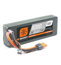 Spektrum SPMX50002S50H3 - 7.4V 5000mAh 2S 50C Smart Hardcase LiPo Battery: IC3
