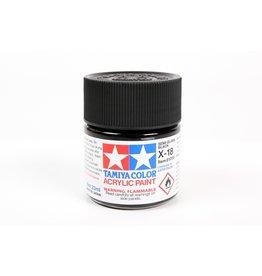 Tamiya X-18 - Semi Gloss Black - 23ml Acrylic