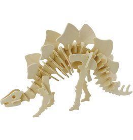 Hands Craft 3D Wooden Puzzle - Stegosaurus