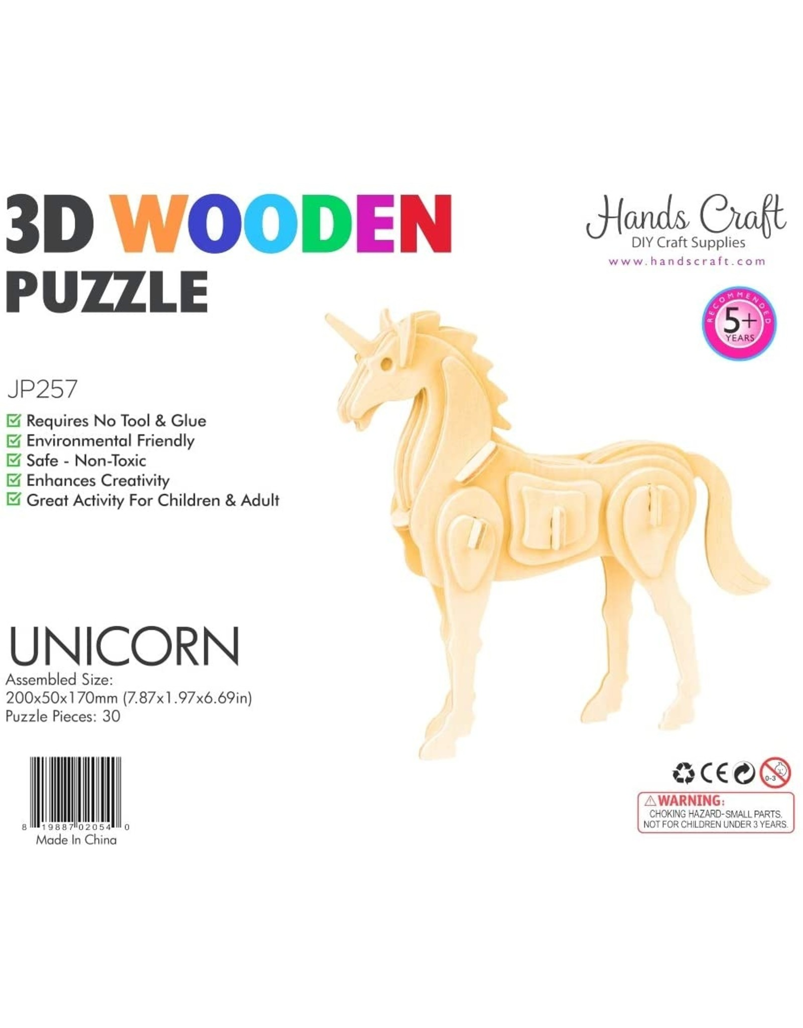 Hands Craft 3D Wooden Puzzle - Unicorn