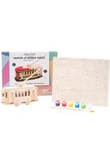 Hands Craft 3D Wooden Puzzle Paint Kit - Trolley