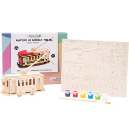 Hands Craft 3D Wooden Puzzle Paint Kit - Trolley