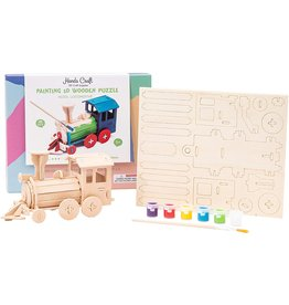 Hands Craft 3D Wooden Puzzle Paint Kit - Locomotive
