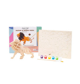Hands Craft 3D Wooden Puzzle Paint Kit - Lion