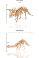Hands Craft 3D Wooden Puzzle 6ct - Dinosaur