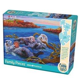 Cobble Hill Sea Otter Family - 350 Piece Puzzle