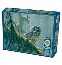 Cobble Hill Mossy Branches - Spotted Owl - 500 Piece Puzzle