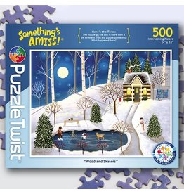 Puzzle Twist Woodland Skaters - 500 Piece Puzzle