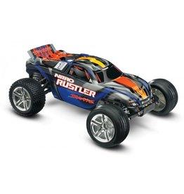 Traxxas 1/10 Rustler Nitro 2WD Stadium Truck - Silver/Blue