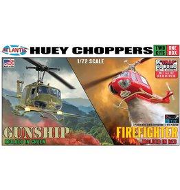 Atlantis 1/72 Huey Gunship & Huey Firefighter