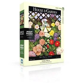 New York Puzzle Co Floral Trellis - 1000 Piece Puzzle