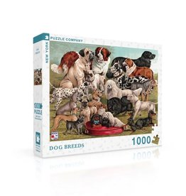 New York Puzzle Co Dog Breeds - 1000 Piece Puzzle