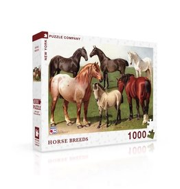 New York Puzzle Co Horse Breeds - 1000 Piece Puzzle