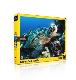 New York Puzzle Co Green Sea Turtle - 500 Piece Puzzle