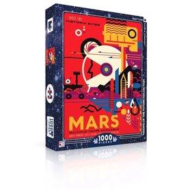 New York Puzzle Co Visit Mars - 1000 Piece Puzzle