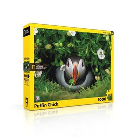New York Puzzle Co Puffin Chick - 1000 Piece Puzzle
