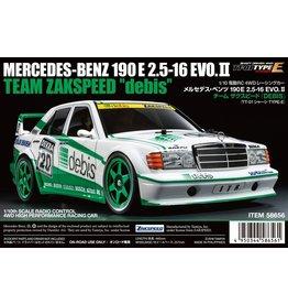 "Tamiya 1/10 Mercedes-Benz 190E ""Debis"" - TT-01 Type-E Chassis Kit"