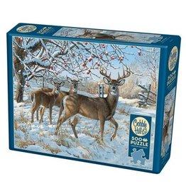Cobble Hill Winter Deer - 500 Piece Puzzle
