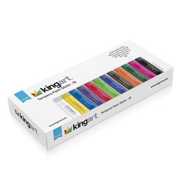 Kingart Tempera Paint Sticks - 12 Unique Colors