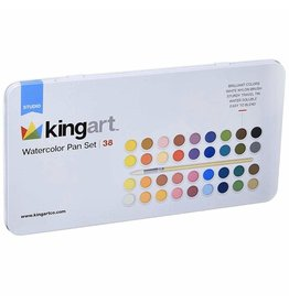 Kingart Watercolor Paint Set in Tin - 36 Unique Colors
