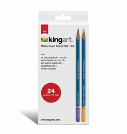 Kingart Watercolor Pencils in Tin - 24 Unique Colors