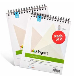 "Kingart Drawing Paper Pad 75 Sheet 8"" x 10"" - 2 Pack"