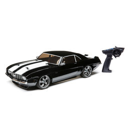 Losi 1/10 1969 Chevy Camaro V100 AWD Brushed RTR - Black