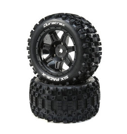 Duratrax DTXC5502 - Six Pack X Belted Mounted Tires - 24mm Black (2)
