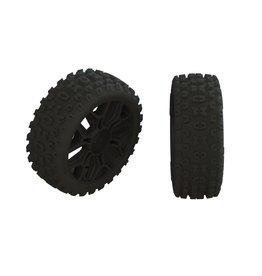 Arrma ARA550088 - dBoots 2HO Tire Set Glued Gun Metal