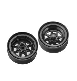 "JConcepts JCO3389B - Colt 1.9"" Beadlock Wheel with Cap - Black (2pcs)"