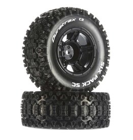 Duratrax DTXC3860 - Six-Pack SC C2 Mounted Tires: Traxxas Slash Front