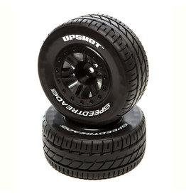 Duratrax DTXC2934 - SpeedTreads Upshot SC Tire Front Black Mounted: Traxxas Slash