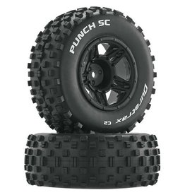 Duratrax DTXC3704 - Punch SC C2 Mounted Front Tires: Slash