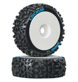 Duratrax DTXC3615 - Lockup 1/8 C2 Mounted Buggy Tires - White