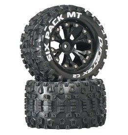 "Duratrax DTXC3520 - Six-Pack MT 2.8"" 2WD Mounted Rear C2 Tires - Black"