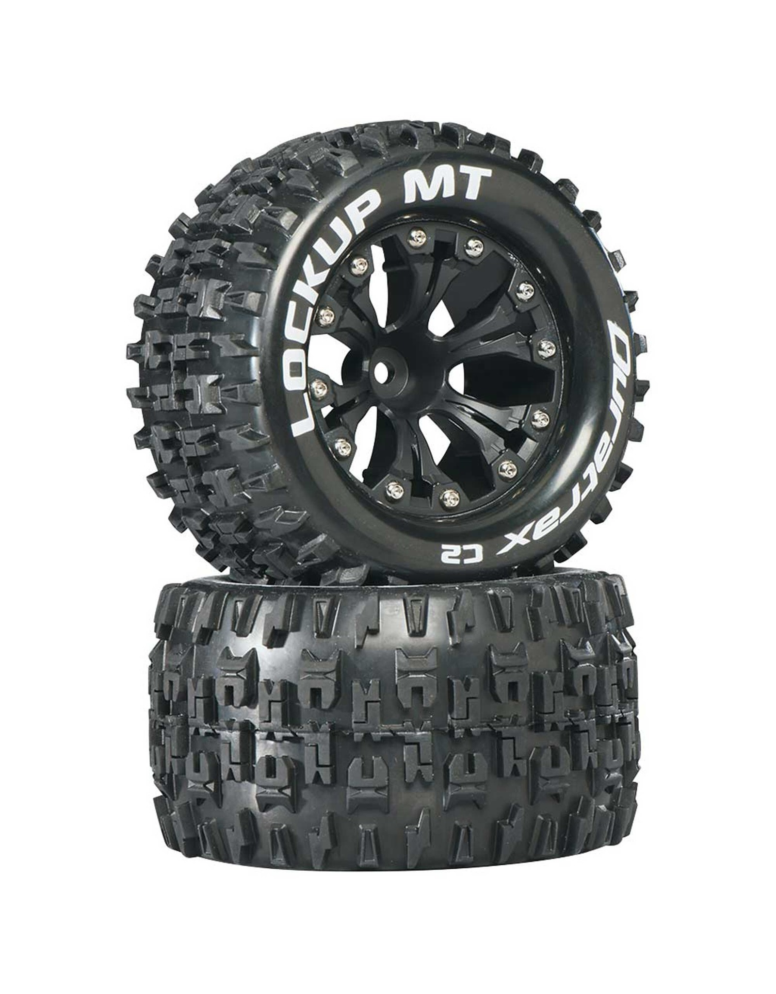 "Duratrax DTXC3510 - Lockup MT 2.8"" 2WD Mounted 1/2"" Offset Tires - Black"