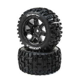Duratrax DTXC5501 - Lockup X Belted Mounted Tires 24mm - Black