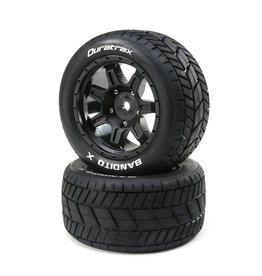 Duratrax DTXC5500 - Bandito X Belted Mounted Tires 24mm - Black
