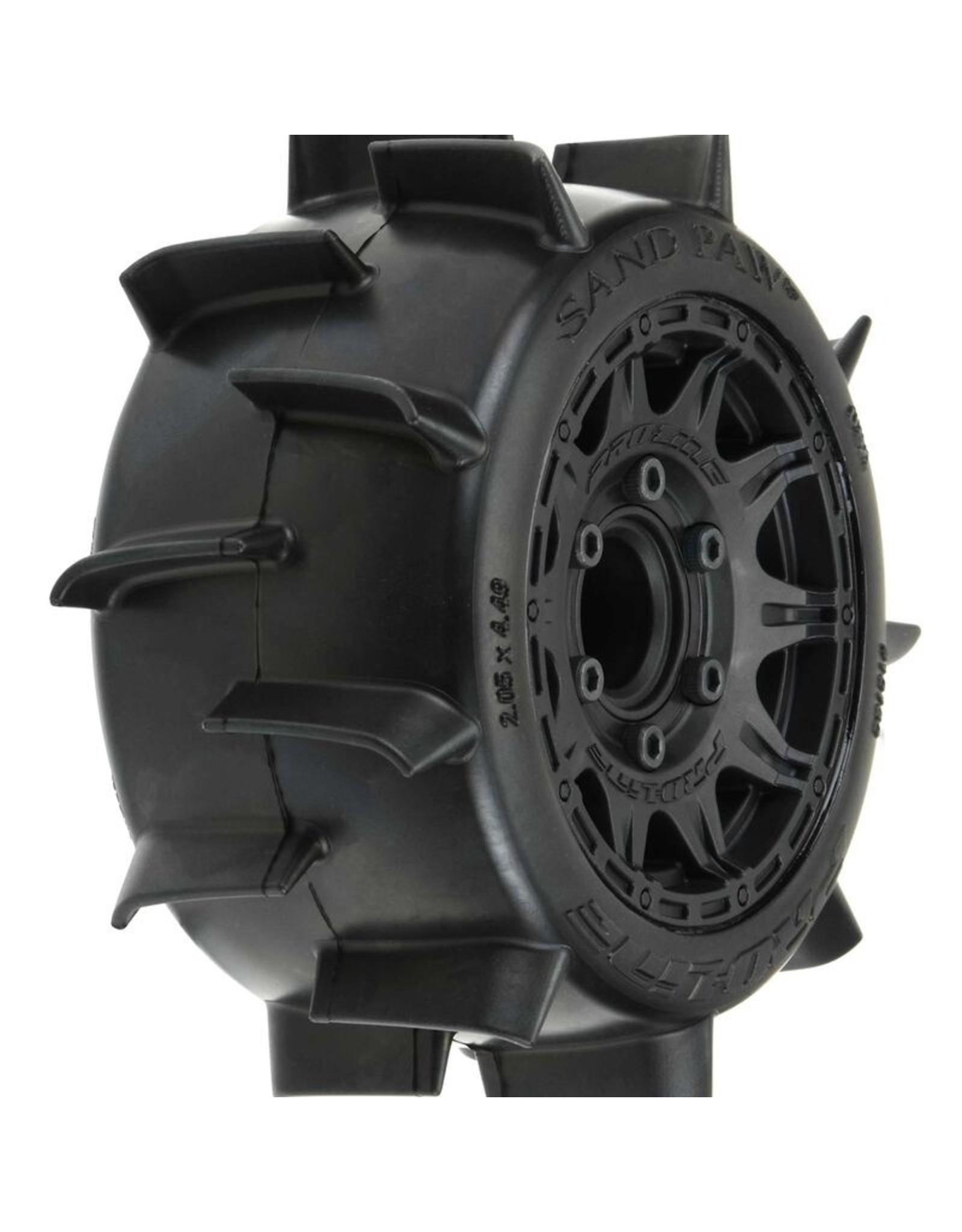 "Pro-Line PRO1016010 - Sand Paw LP 2.8"" Mounted Raid Black 6 x 30 Tires - Front/Rear"